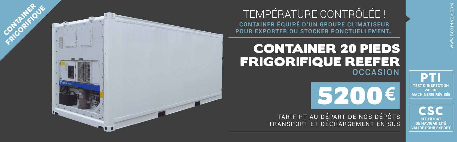 location container frigorifique container-20-reefer-boxinnov